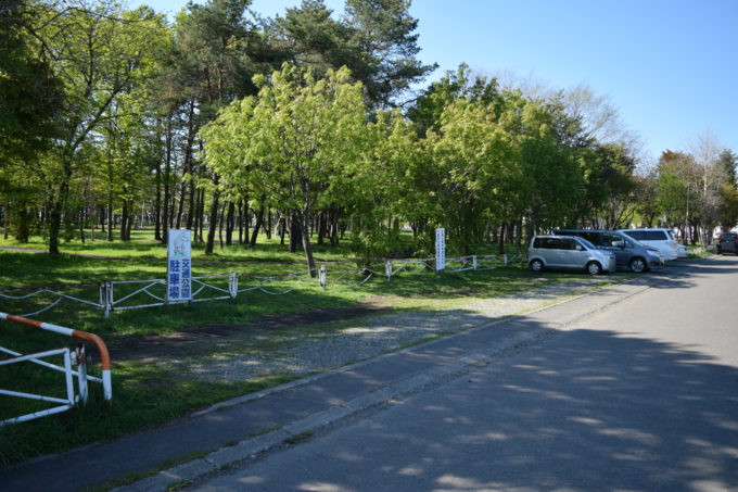 交通公園専用の駐車場
