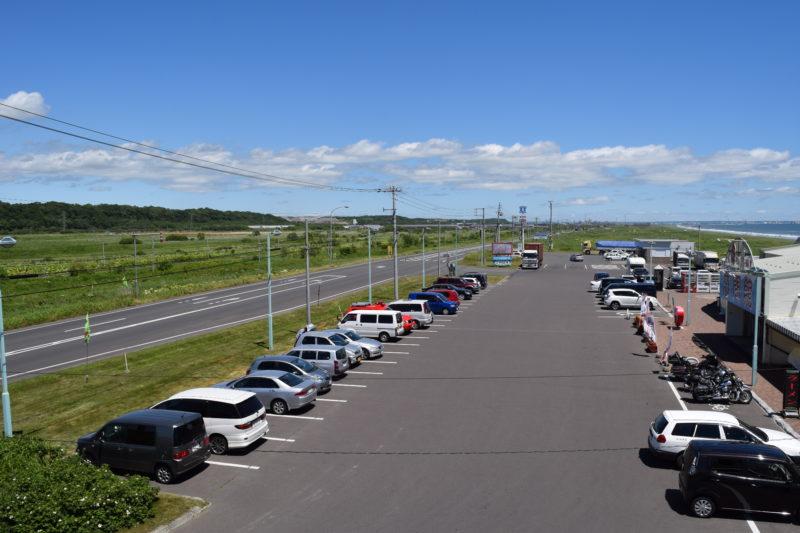 展望台から見る道の駅(釧路方面)