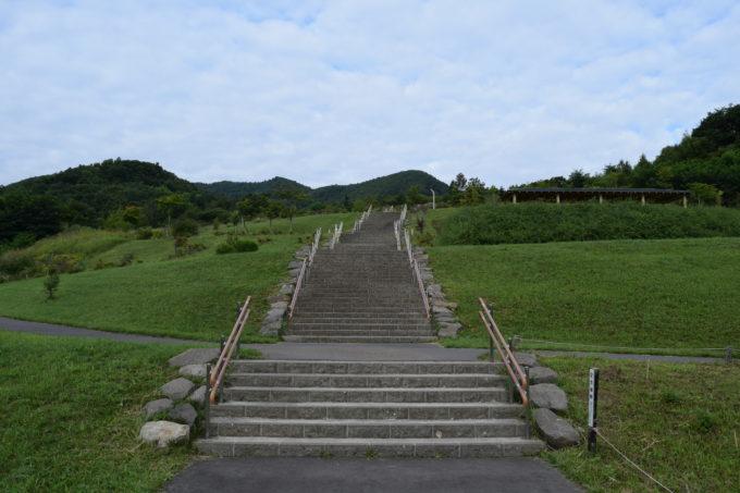 第1見晴らし台までの階段