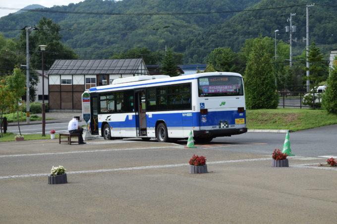 五天山公園に乗り入れるJR北海道バスの車体