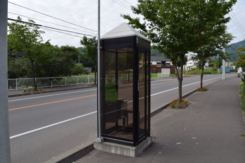 北海道道82号西野真駒内清田線(手稲佐股通)沿いにある公衆電話