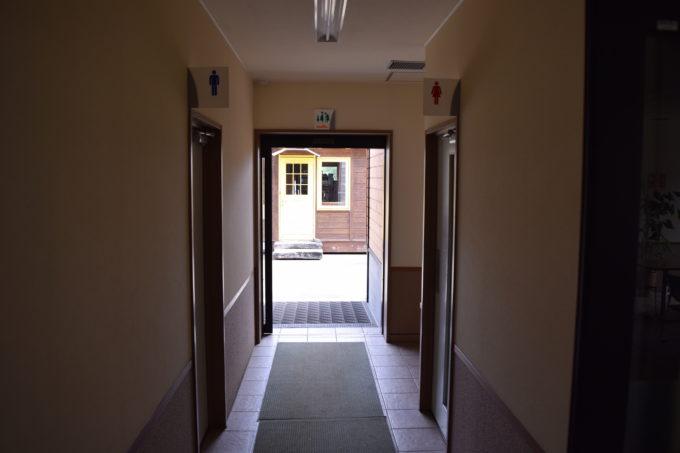 五天山公園管理事務所内のトイレ
