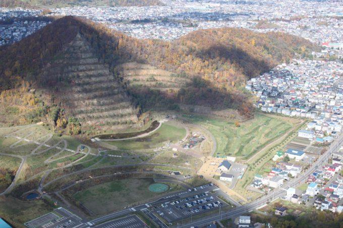 五天山公園の航空写真