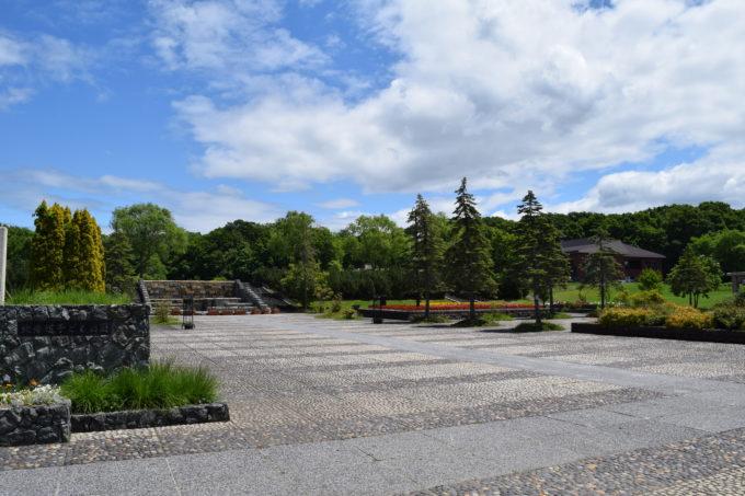 北海道子どもの国の入口付近にある広場