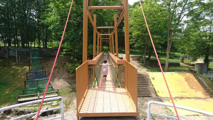 2016年に新たにリニューアルした吊橋