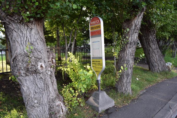 中央バス「運輸支局前」バス停