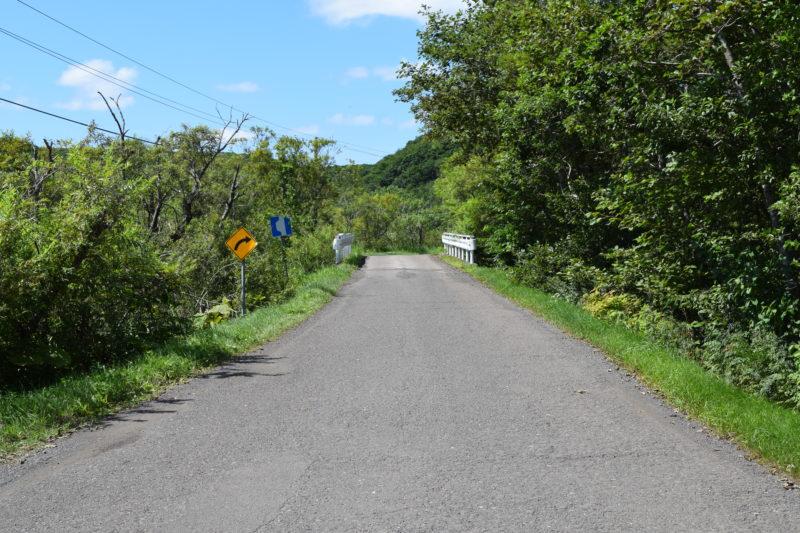 道幅が狭くなります。