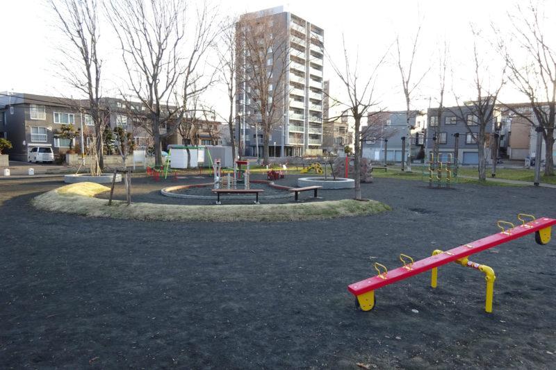 2018年に新設された北園公園の遊具広場