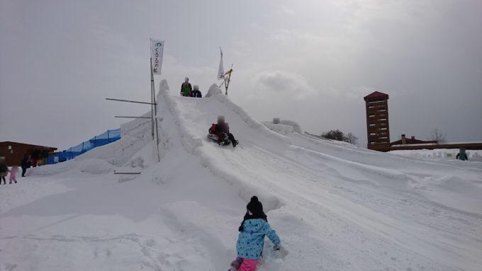 スノーチューブ専用滑り台