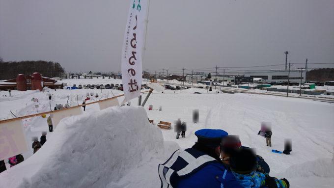 スノーチューブ専用滑り台の頂上。