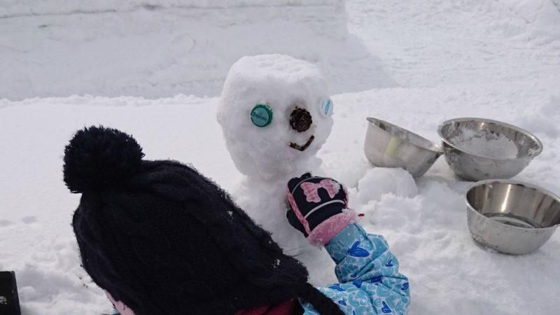 雪だるま飾り付け