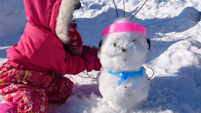 毎年作る雪だるま