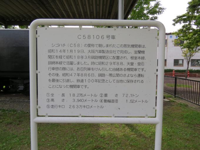 シゴハチ(C58)の案内看板