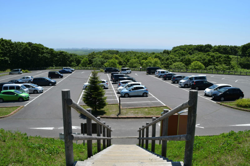 釧路湿原展望台の無料駐車場