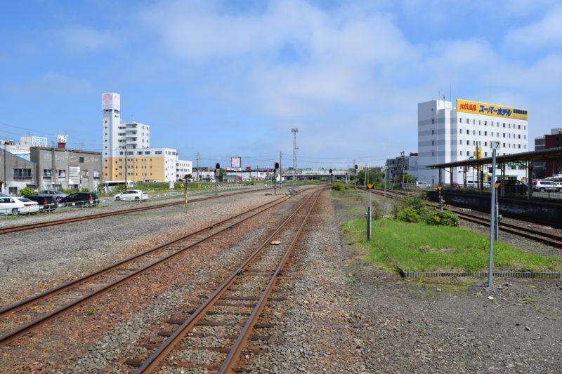 釧路駅3番ホームからの陸橋