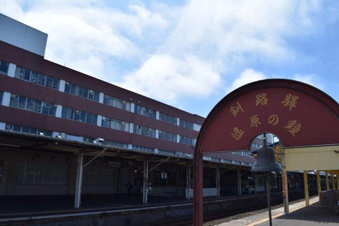 湿原の鐘から見る釧路駅