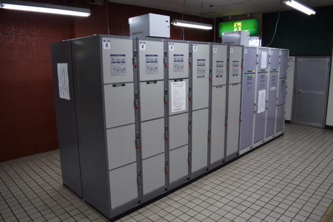 釧路駅構内のコインロッカー