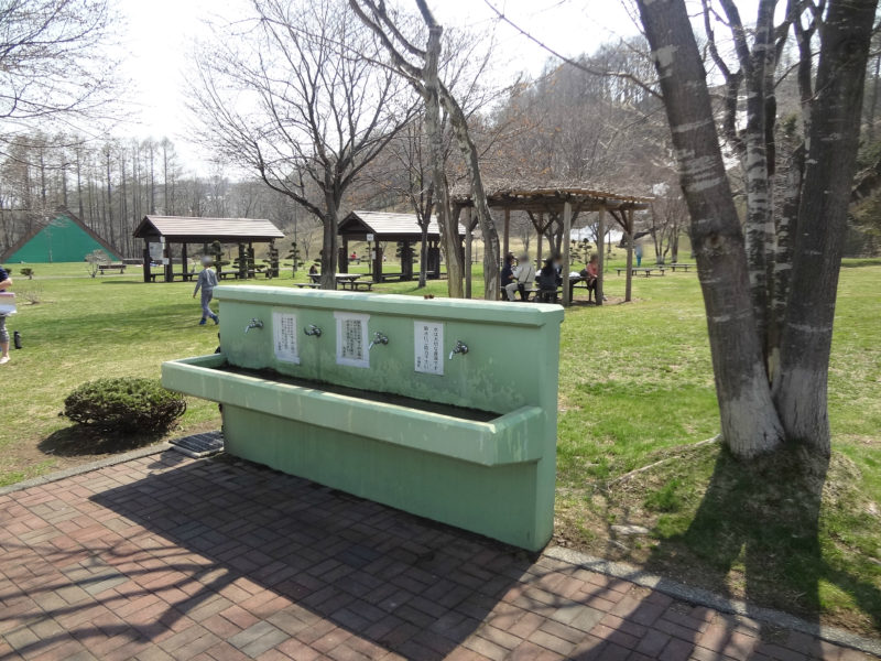 バーベキューコーナー付近の手洗い場