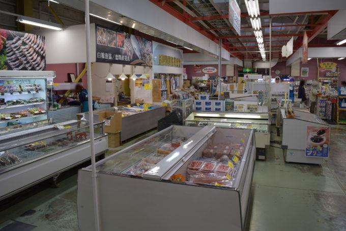 白糠漁業協同組合直売店の売り場