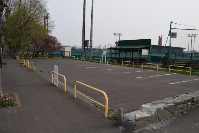 美香保公園野球場専用駐車場