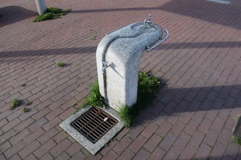 白い恋人パーク側の手洗い場・水飲み場