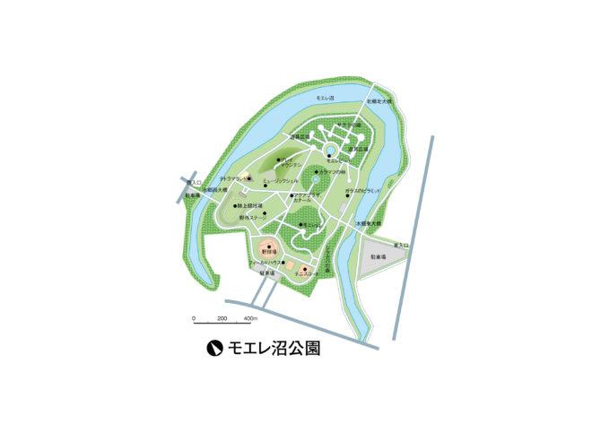 モエレ沼公園全体図