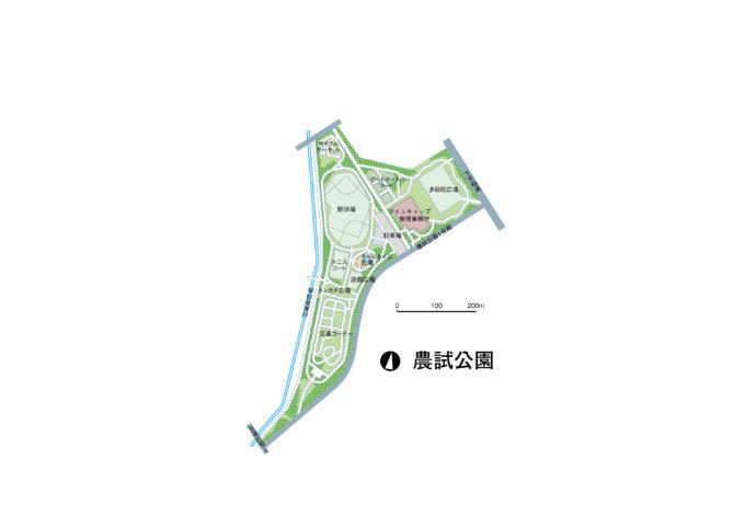 農試公園全体図