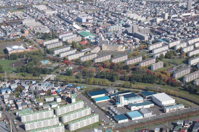農試公園の航空写真