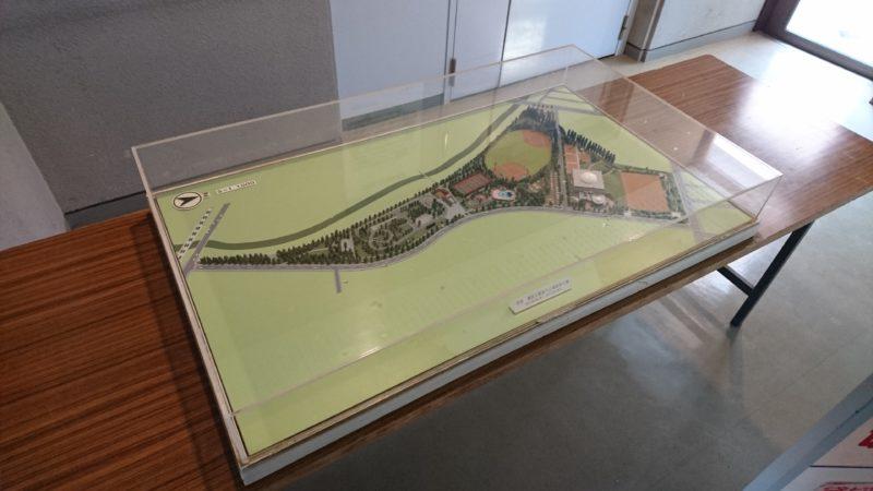 農試公園の立体模型