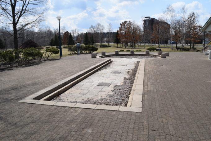帯広みなみ野公園水遊びができるプール状の噴水
