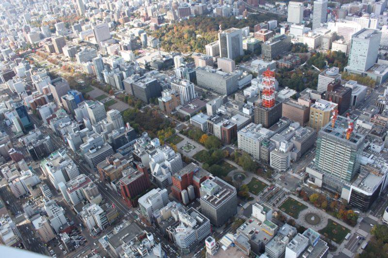 大通公園の航空写真