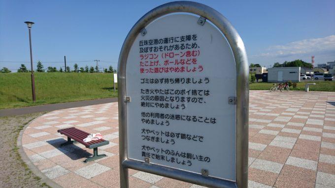 ラジコンやドローン、凧あげ、ボールを使った遊びは禁止