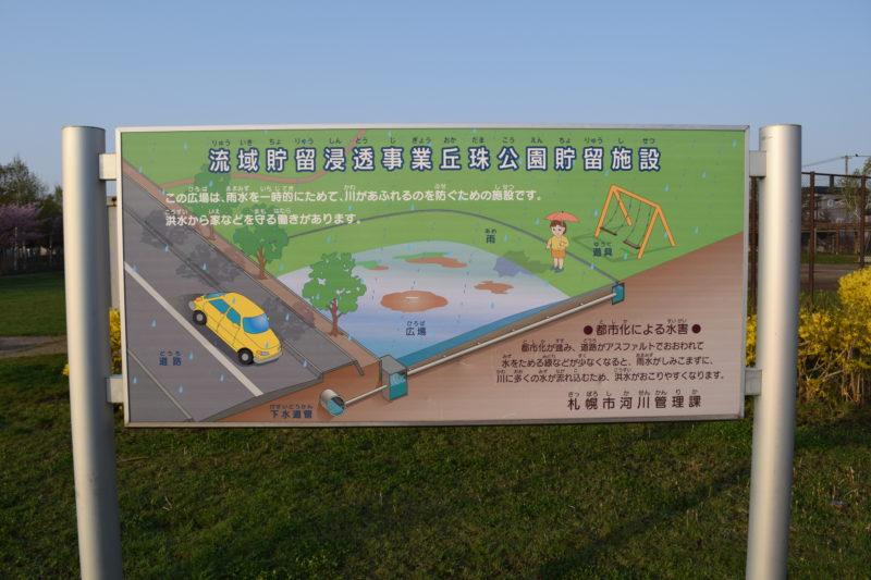 流域貯留浸透事業丘珠公園貯留施設