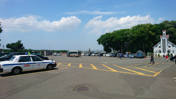 さっぽろ羊ヶ丘展望台の駐車場