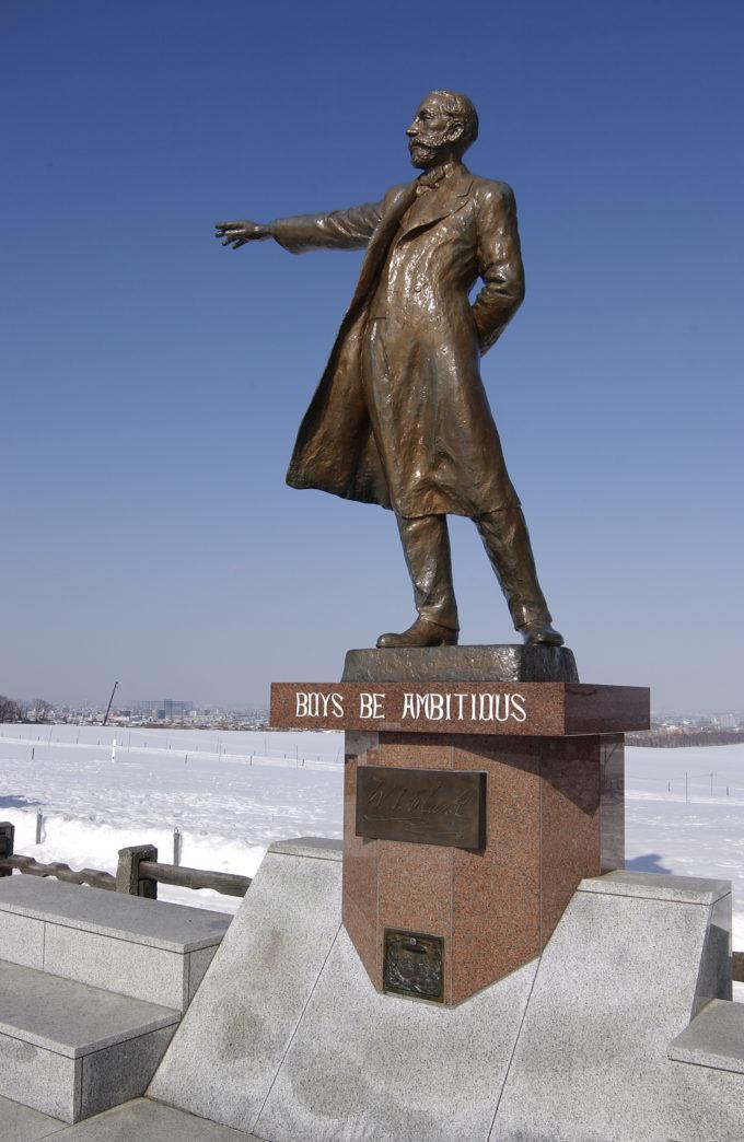冬のクラーク像
