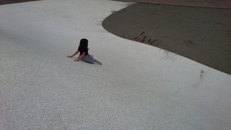 プレイスロープと砂場