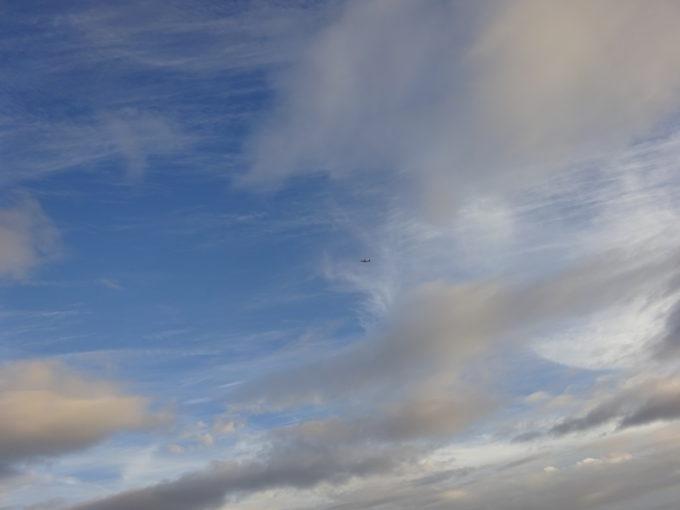 丘珠空港へ降り立つ飛行機