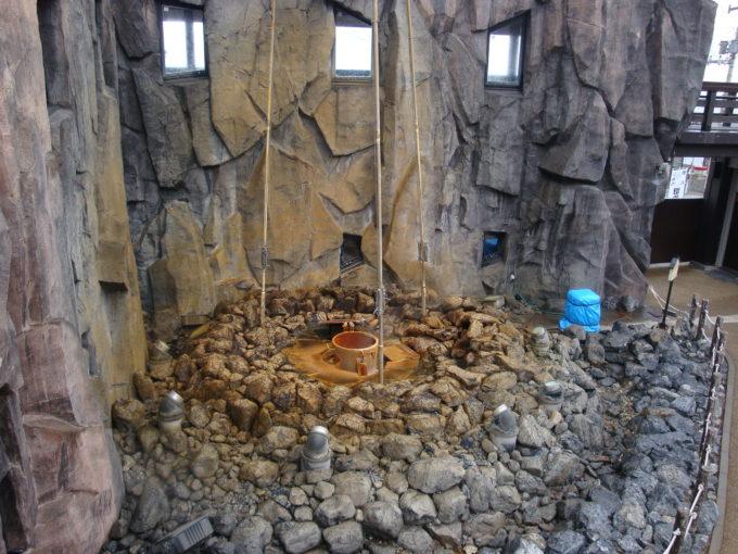 静かな状態の間歇泉