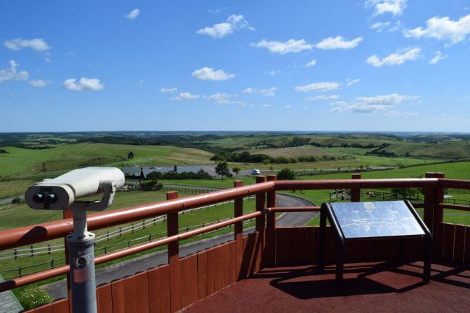 観光望遠鏡で美しい標茶町の風景