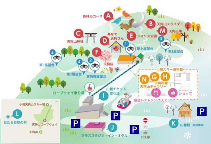 小樽天狗山MAP