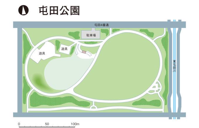 屯田公園全体図