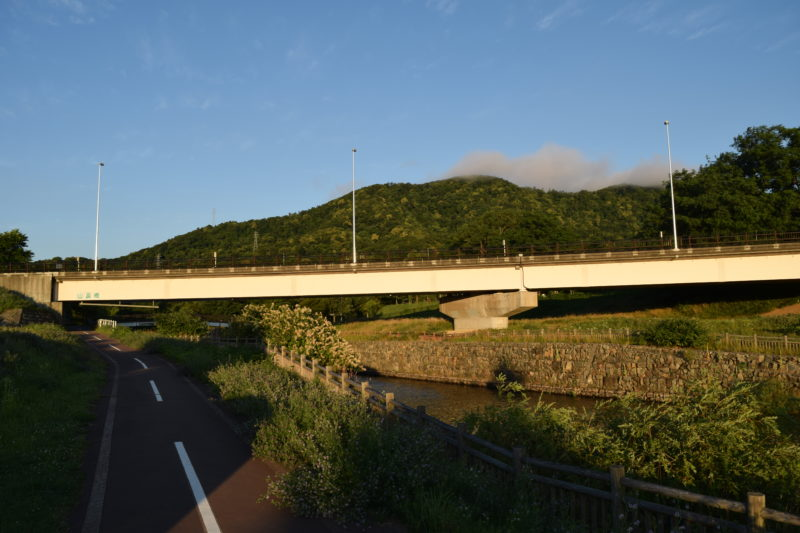 ウォーターガーデンからの山鼻橋