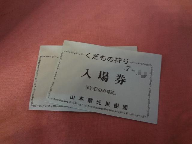 山本観光果樹園入場券