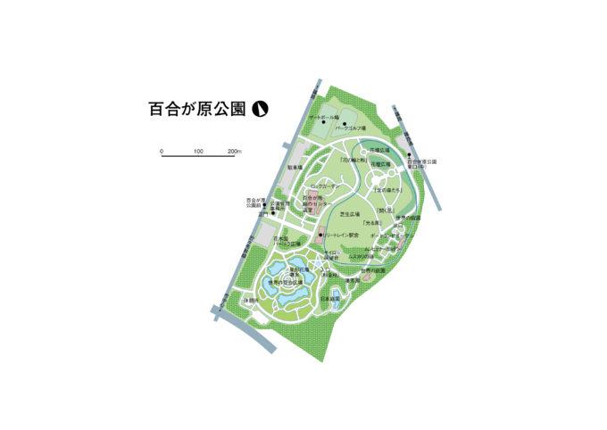 百合が原公園全体図