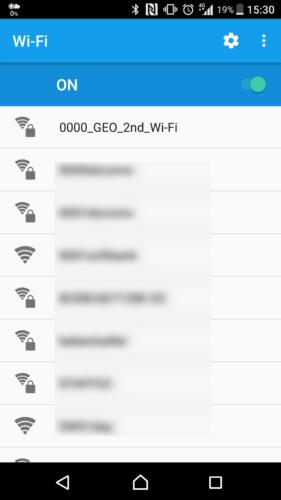 SSID「0000_GEO_2nd_Wi-Fi」を選択。