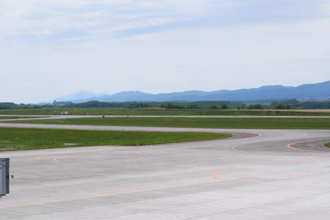 旭川空港の滑走路