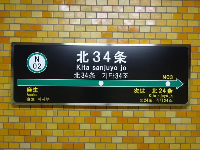 札幌市営地下鉄の駅名読み方と路線図