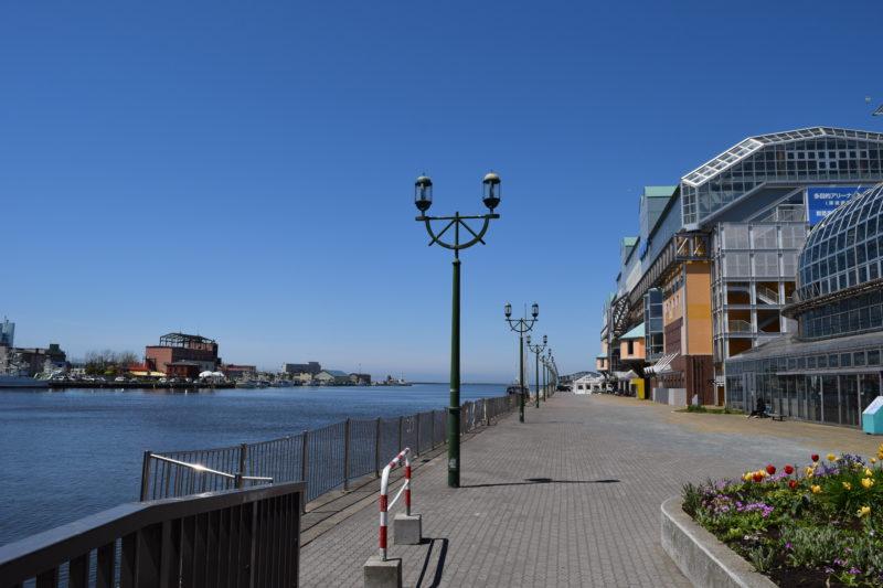 EGGからの釧路港と釧路河口方面