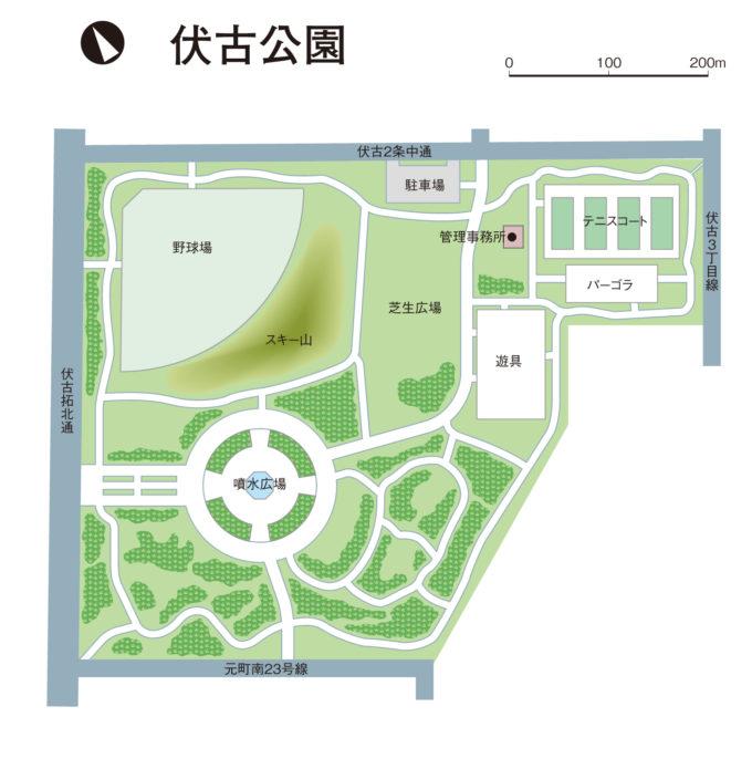 伏古公園全体図