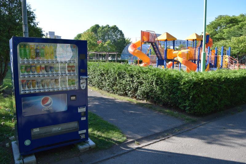 遊具広場付近にある自動販売機